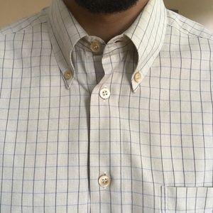 Ermenegildo Zegna Plaid Oxford Button Down Shirt